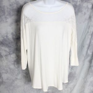 Glamour Farms Boutique cream top